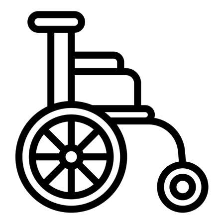 Disabled chair icon, outline style 向量圖像
