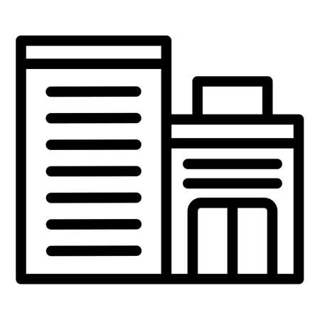 Medical building icon, outline style