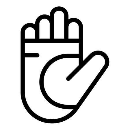 Hand bandage icon, outline style Vectores