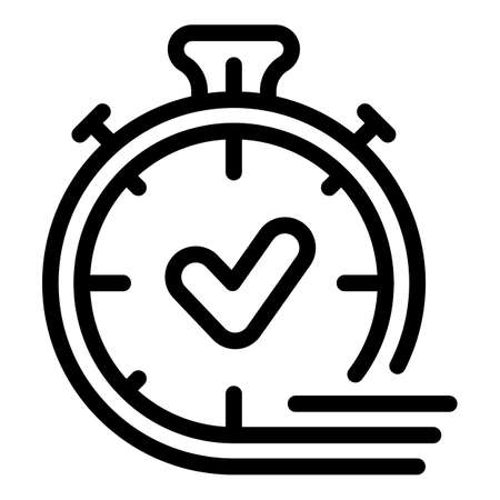 Approved timer icon, outline style