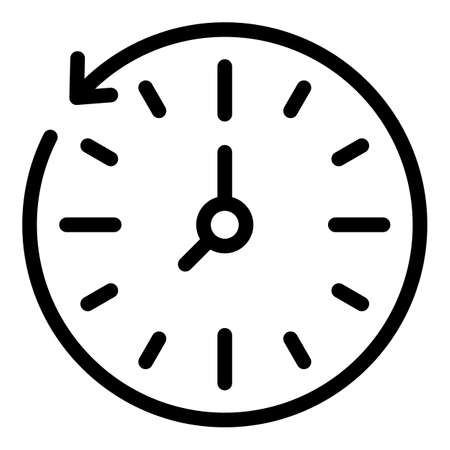 Minute stopwatch icon, outline style