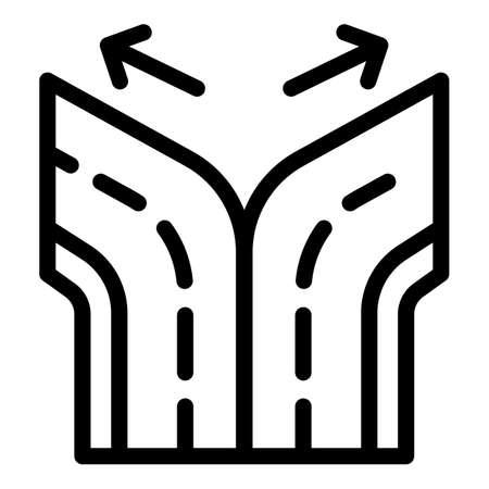 Road comparison icon, outline style