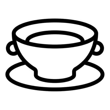 Bowl icon, outline style