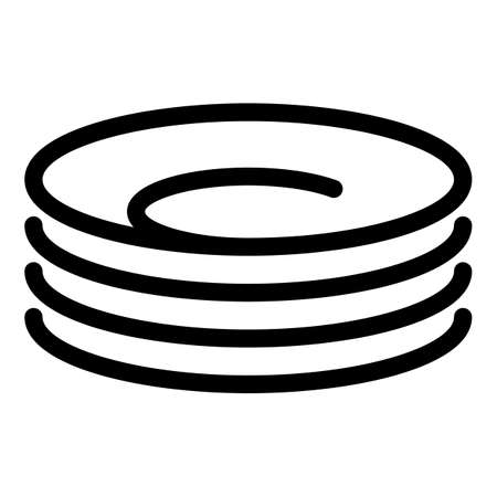 Food plate icon, outline style
