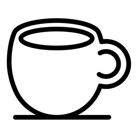 Ceramic cup icon, outline style