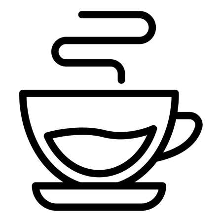 Drink cup icon, outline style