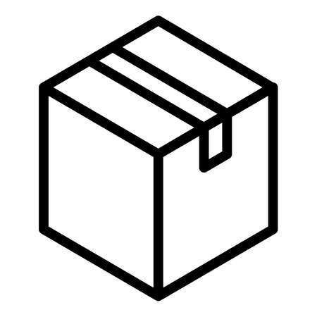 Parcel icon, outline style 向量圖像