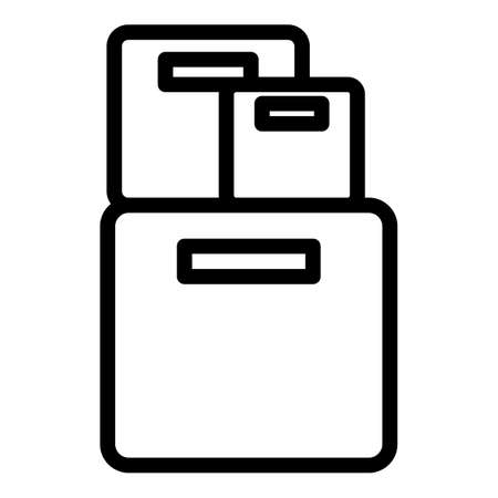 Office box icon, outline style