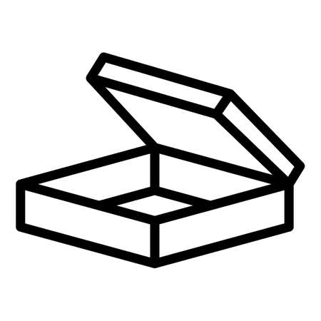 Surprise box icon, outline style