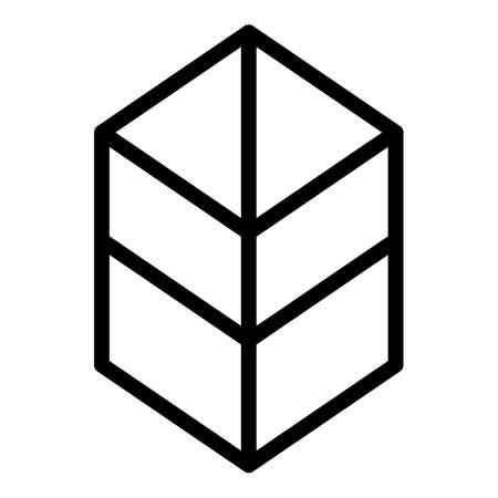 Close box icon, outline style 版權商用圖片 - 156757491