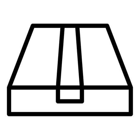 Wrap box icon, outline style