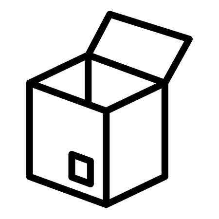 Birthday box icon, outline style 版權商用圖片 - 156757487