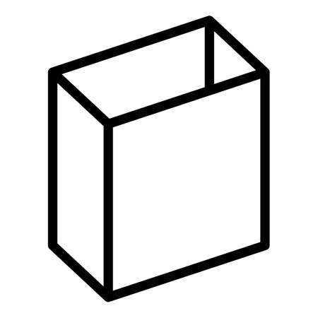 Square box icon, outline style