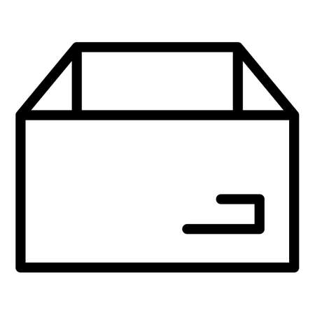 Cardboard box icon, outline style