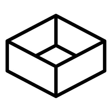 Package box icon, outline style 向量圖像