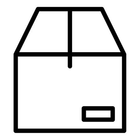 Parcel box icon, outline style 向量圖像