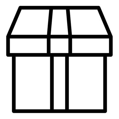 Empty box icon, outline style 版權商用圖片 - 156757504