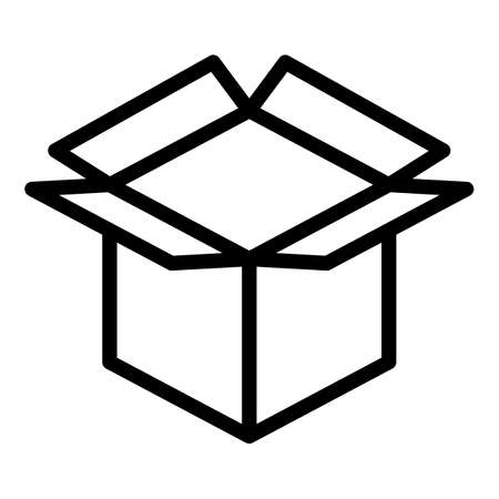 Post parcel icon, outline style