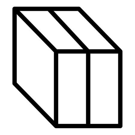 Import box icon, outline style