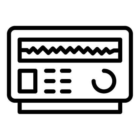Energy voltage regulator icon, outline style 向量圖像