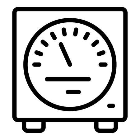 Computer voltage regulator icon, outline style