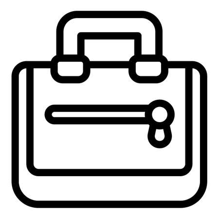 Luggage laptop bag icon, outline style 일러스트