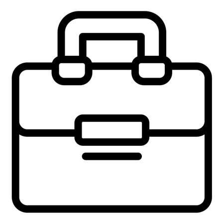 Satchel laptop bag icon, outline style  イラスト・ベクター素材