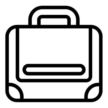 Strap laptop bag icon, outline style