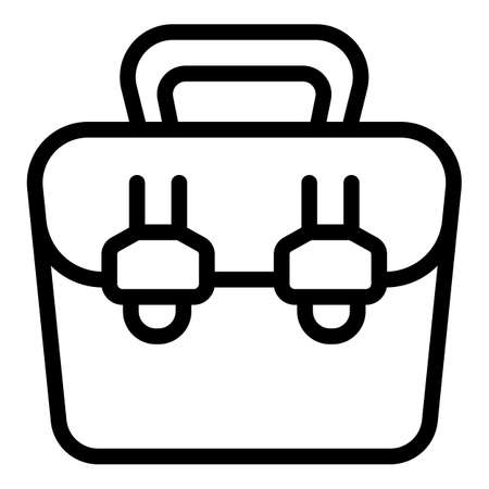 Purse laptop bag icon, outline style