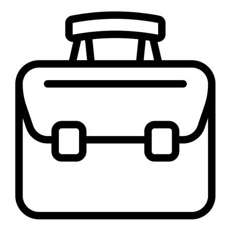 Office laptop bag icon, outline style