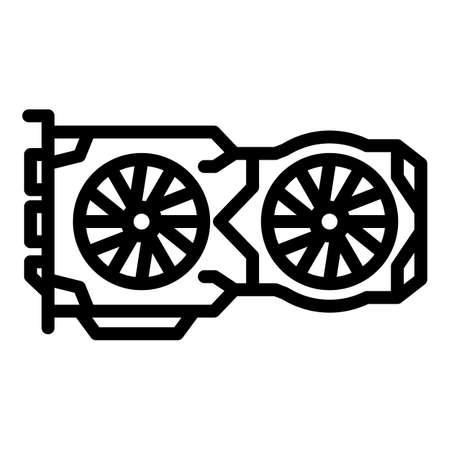 Vga card icon, outline style