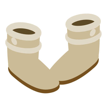 Ugg boots icon, isometric style Vectores