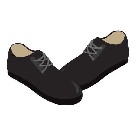 Men shoes icon, isometric style