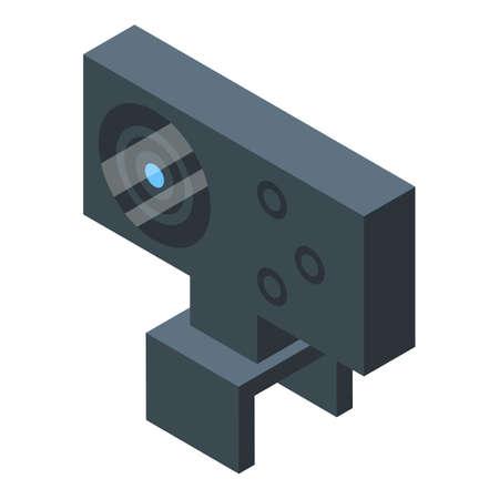 Stream web cam icon, isometric style Vector Illustration