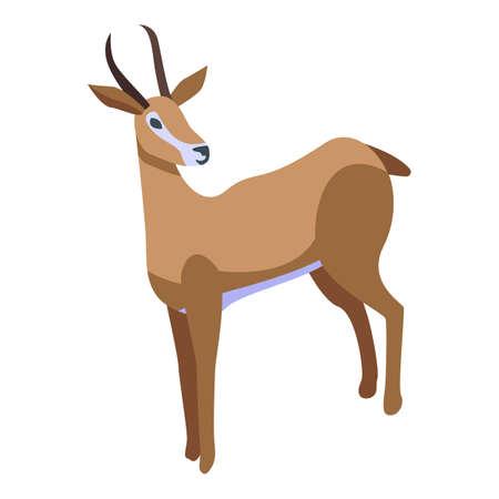 Impala gazelle icon, isometric style