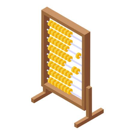 School abacus icon, isometric style Vecteurs