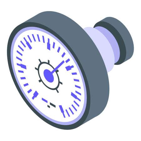 Manometer reading icon, isometric style