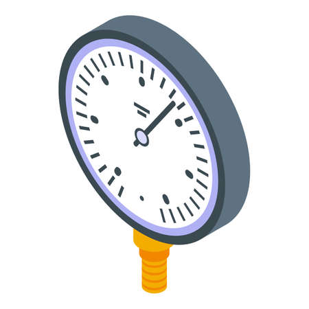 High manometer icon, isometric style 向量圖像