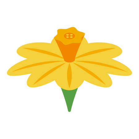 Cinnamon flower icon, isometric style