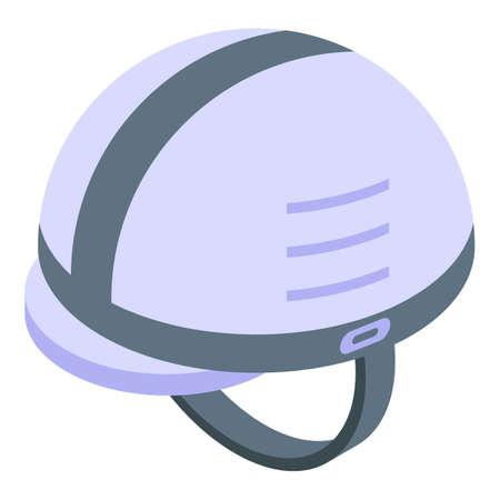 Rescuer helmet icon, isometric style