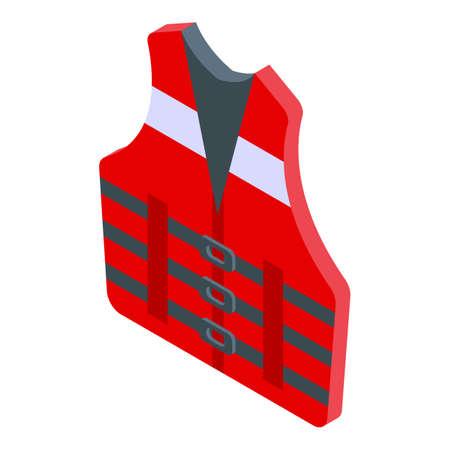 Rescuer vest icon, isometric style