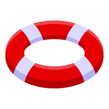 Rescuer life buoy icon, isometric style Иллюстрация