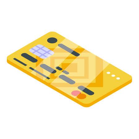 Credit card subscription icon, isometric style Ilustração