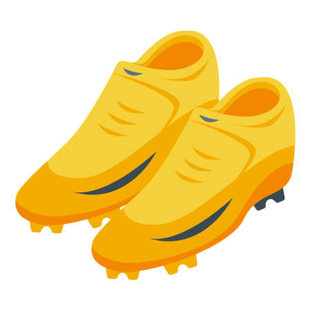 Soccer shoes icon, isometric style 向量圖像
