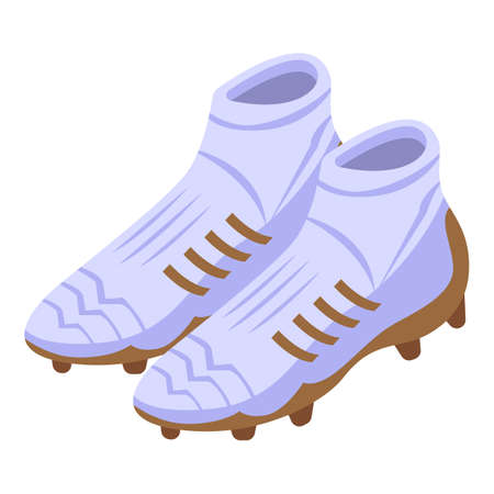 Football cleats icon, isometric style Ilustração