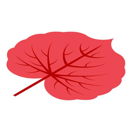 Park autumn leaf icon, isometric style