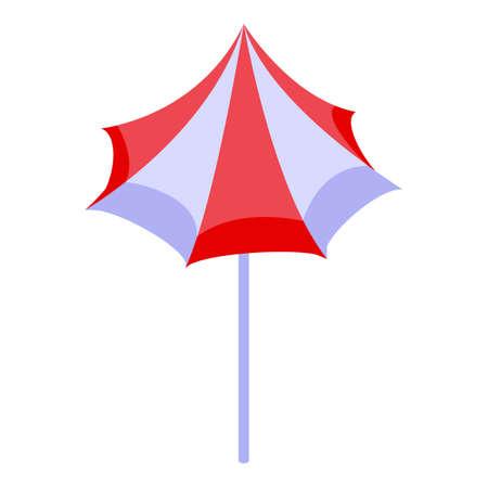 Beach umbrella icon, isometric style