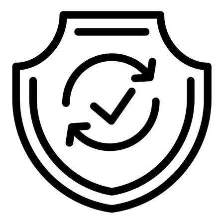 Reliability icon, outline style