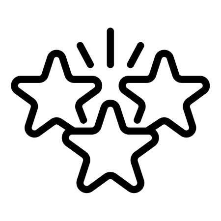 Stars reliability icon, outline style