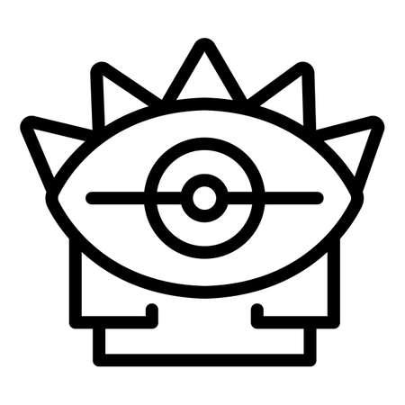 Magic eye amulet icon, outline style